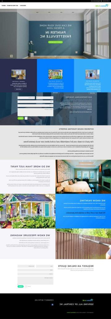 painters in nc painting company website design